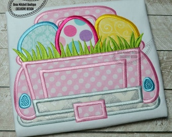 Easter egg with grass truck applique