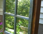 "Reclaimed Cedar Medicine Cabinet - ""window pane"" style mirrored door - small size"