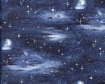 Shooting Stars and Night Sky Landscape - Elizabeth Studios - Fat Quarter
