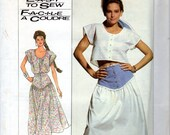 Simplicity 7954 Easy Yoked Skirt and Blouse Top Size N 10 12 14 Uncut Vintage Sewing Pattern 1987