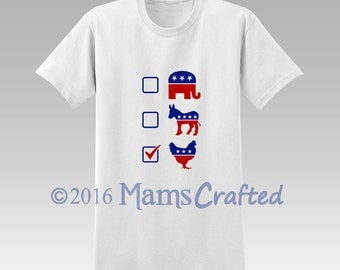 Vote Chicken T-Shirt | Hen Party |Youth and Adult | Geek Clothing | Funny Political Shirt | Geek Gift