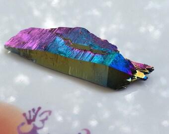 DT Titanium Rainbow aura quartz Arkansas healing crystals reiki wicca no590