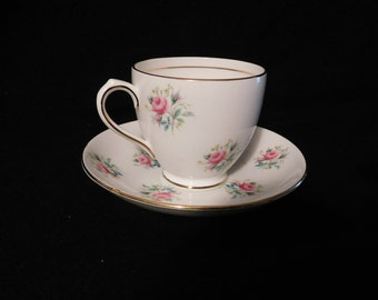 Duchess Marie - Pink Rose Tea Cup & Saucer Mint Condition
