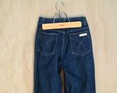 vintage 1980's Calvin Klein jeans dark denim wash high waisted vintage designer jean