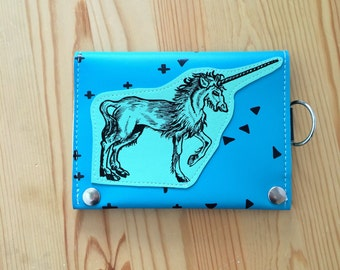 Unicorn vegan leather travel wallet