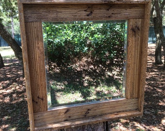 Lobster Trap Mirror- Nautical Mirror-Driftwood Mirror-Wall Mirror-Original Fl. Keys