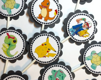 30 Dimensional Pokemon Cupcake Toppers *Ready to Ship*