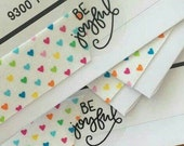 Shop Exclusive - BE JOYFUL sticker - hand lettered in modern calligraphy - great for wedding favors, gifts, packaging