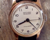 A RARE soviet Russian watch Moskva Moscow gender unisex wristwatch, white watch