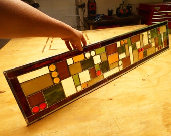 Custom Sidelight Stained Glass Panel or Transom - Contemporary Sidelights