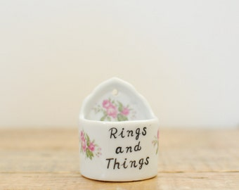 Vintage Rings and Things Petite Jewelry Dish Wall Hanger