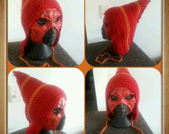 Crochet Fire Pixie Hat