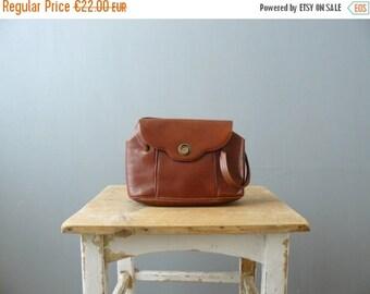 CLOSING SHOP 50% SALE / Vintage purse. 1960s handbag. brown leather handbag