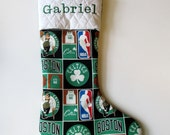 Your stocking with name embroidered - Boston Celtics - Personalized stocking - Gifts for kids - personalized stocking