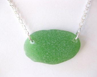 SS Large Sea glass jewelry beach glass jewelry SS sea glass pendant  I love jewelry