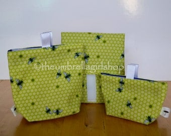 READY TO SHIP Bees Reusable Lunch Kit