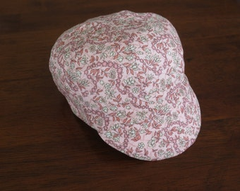 Baby Newsboy Cap Pink Floral Baby Hat Baby Newsboy Hat Baby Girl Cap Baby Girl Hat Pink Baby Hat