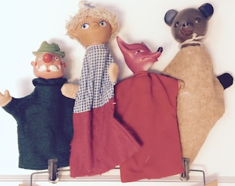 Vintage german puppets set of four