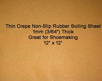 Thin Natural Rubber Soiling Sheet Crepe for Shoes, Sandals, Moccasins, Baby Shoes, Dog Boots,  Shoemaking, Outsole Non Slip