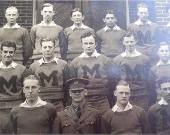 Antique Military Academy Photograph, Woodstock, Massanutten 1929