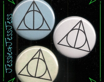 Deathly Hallows buttons