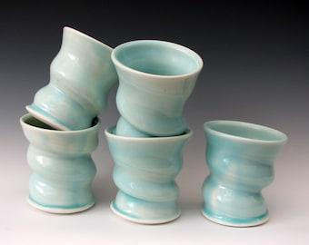 PORCELAIN TUMBLER - Celadon Tumbler - Juice Tumbler - Wine Tumbler - Water Glass - Studio Pottery