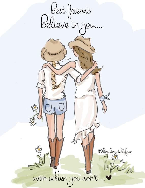 friend friends illustration heather designs believe stillufsen hill rose