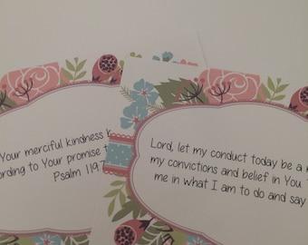 Daily Devotional Scripture Prayer Cards Bible Verse