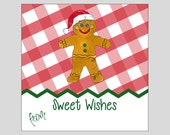 Gingerbread Sweet Treats Gift Tags ~ INSTANT DOWNLOAD ~ printable gift favor tags