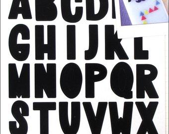 K&Co Smash Black Alphabet Stickers