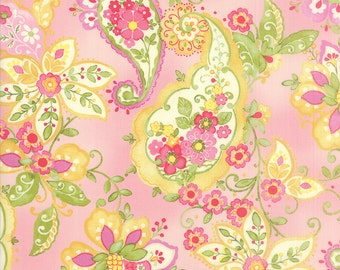 Floral Paisley Print in Rose from the Colette Collection by Chez Moi for Moda