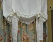 """For Gabriela-Tie Up Functional Window Shade with Ruffled Hem--Relaxed Rod Pocket Style Window Shade - 30.5"""" Wide x 42"""" Long-Custom Shade"""