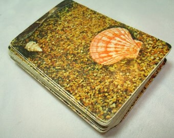 1960s Shell Chemical Company Agricultural Chemicals Division Seashell Playing Cards.