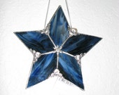 Midnight Blue Streaky Glass 5 point star