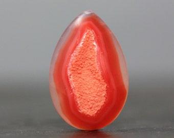 Stunning Crystal Specimen Stone Cabochon Pendant Drusy Druzy Geode Flatback Bezel Setting Gemstone for Tutorial Design & Lesson (11352)