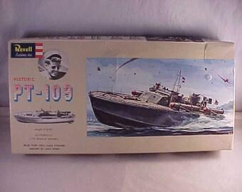 1963 Revell PT-109 Model Kit John F Kennedy