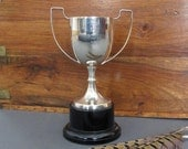 English Silver Plate Trophy - Sports Trophy - EPNS Loving cup from England - Ann Bodle Silver Cup - Sports Award - Vintage Trophy