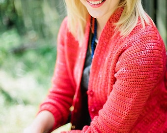 Crochet pattern : Vermillion Cardigan