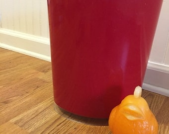 RED WASTEPAPER BASKET Lucite Acrylic Mid Century Modern, Modern, Minimalist, Primary Red at Modern Logic