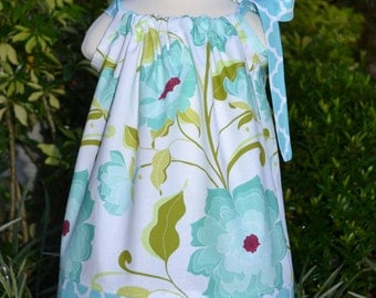 Easter Dress, floral Easter outfit, pillowcase dress, girls Easter outfit, little girls spring dress baby Easter dress toddler dress