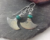 Custom turquoise Ulu earrings