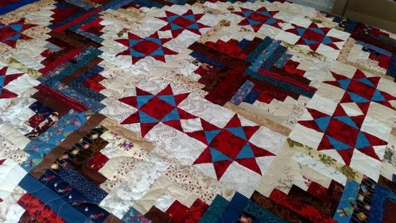 Lone Star Quilt Pattern Queen Size : Lone Star Design Quilt