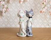 R E S E R V E D for jalbrent28 - Cat Wedding Cake Topper by Bonjour Poupette