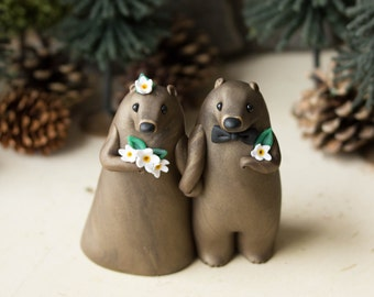 Groundhog Wedding Cake Topper by Bonjour Poupette