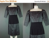 40% OFF 80s Dress Vintage Black 1980s Gilbert for Tally Unusual Tiered Party Cocktail M
