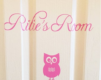 Vinyl NAME Wall Decal plus Butterfly, Door or Wall Name sticker, Child's Room, Children, Nursery, Home Decor
