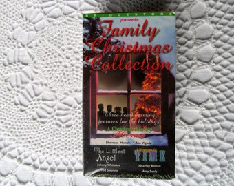 VHS Movies Lot of 3 Family Christmas Collection The Littlest Angel A Stranger in Time A Christmas Journey Home