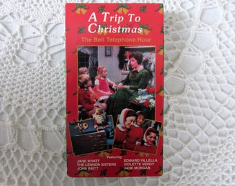 Vintage VHS A Trip to Christmas The Bell Telephone Hour Jane Wyatt Lennon Sisters Rare