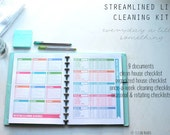 CLEAN - The Streamlined Life CLEANING Kit - 9 documents - standard and half size included - Instant Download