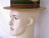 1963 Colgate Palmolive Company Presentation Harrys Girls NBC-TV Costume Boater Hat